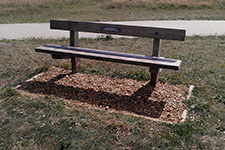 memorial bench style 6 countryside seat