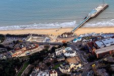 bournemouth beach aerial shot