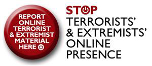 button to report online terrorist material